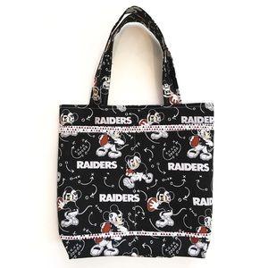 NFL Raiders Disney Fabric Women Shoulder Tote Bag